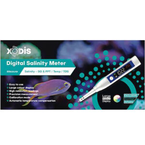 Salinity should be checked regularly  in aquariums, which is fast, simple and accurate with the Xodis Digital Salinity Meter