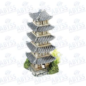 Classic Oriental Tower With Plant fish tank decorations