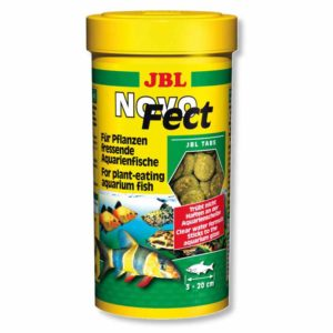 JBL NovoFect a complete algae diet for Plecos, plant eating freshwater fish and shrimps