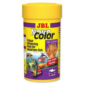 Jbl novo colour 250ml a fantastic colour enhancing flake food for tropical fish