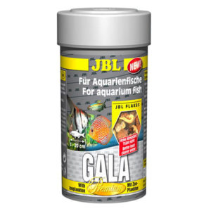 JBL Gala 100ml. High quality tropical fish flake food with freeze dried live food. extremely low in phosphates.