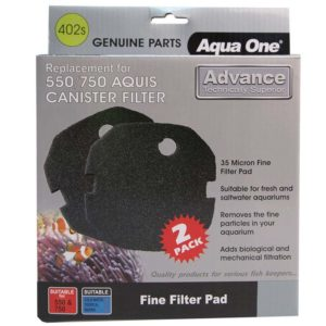Aqua One Black Sponge Pad Advance 550/750 (2pk) - 402s