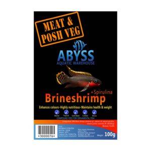 Abyss Frozen Brineshrimp + Spirulina 100g