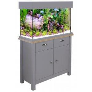 Aqua One Oakstyle 145 Flint Grey a nice aquarium cabinets set in flint grey