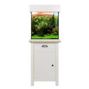 Aqua One Oak Style 85 Shades Soft White top notch 80 litre aquarium