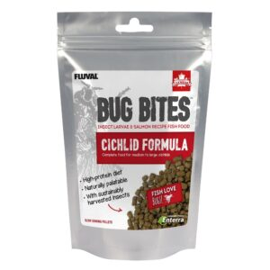 Fluval Bug Bites Colour Enhancing Granules 125g great food for tropical fish.