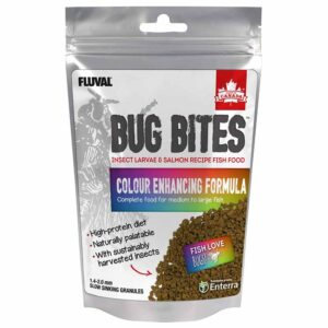 Fluval Bug Bites Colour Enhancing Granules 125g all granular food for small to medium fish