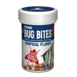 Fluval Bug Bites Tropical Flakes 18g high protein colour enhancing fish food for tropical fish
