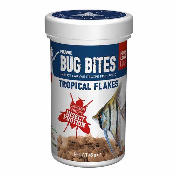 Fluval Bug Bites Tropical Flakes 45g Fluval Bug Bites Tropical Flakes make fish go crazy.