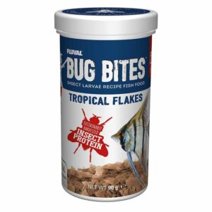 Fluval Bug Bites Tropical Flakes 90g Fluval Bug Bites Tropical Flakes make fish go crazy.