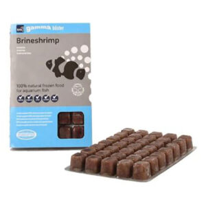 Gamma Brineshrimp 100g. Brineshrimp has been a long favourite of fish keepers fresh water and saltwater alike. There aren't many fish that do not eat brineshrimp
